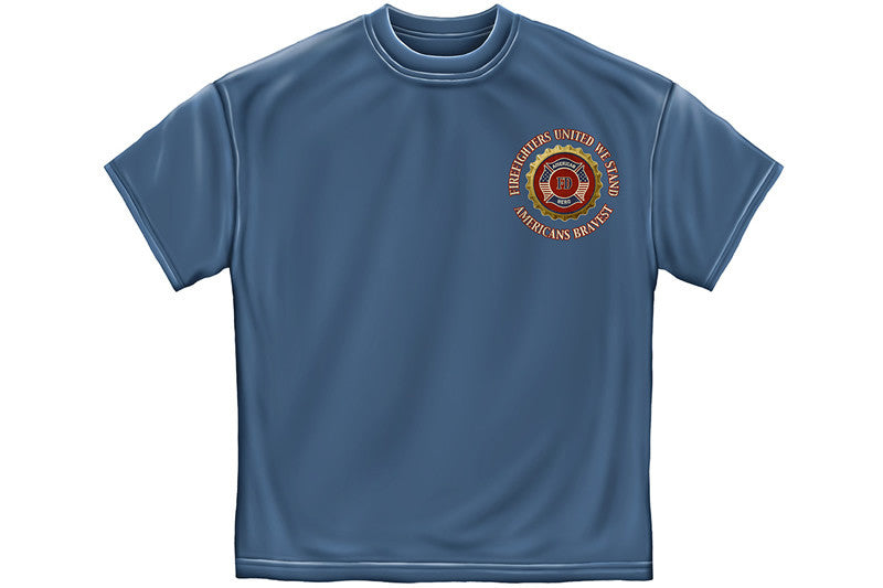 Firefighter Denim Fade Short Sleeve T Shirt