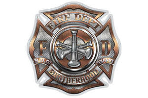 Fire Department Brotherhood 3 Bugle Ranking Reflective Decal