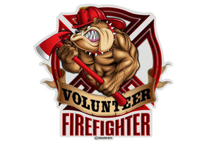 Volunteer Firefighter Dog Reflective Decal