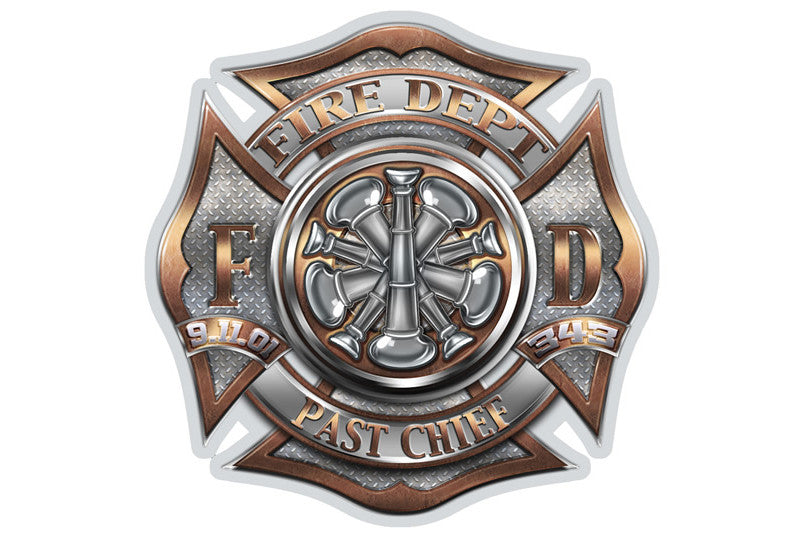 Fire Department Past Chief 9/11 Reflective Decal