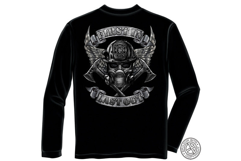 Steel Fire wings With Foil Stamp Long Sleeve T-Shirt
