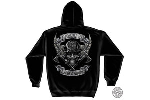 Steel Fire wings With Foil Stamp Hooded Sweatshirt