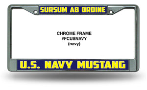 Chrome Mustang License Plate Frame