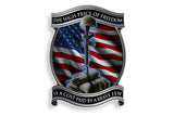 The High Price Of Freedom Is A Cost Paid For By A Brave Few. Solider Cross Reflective Decal