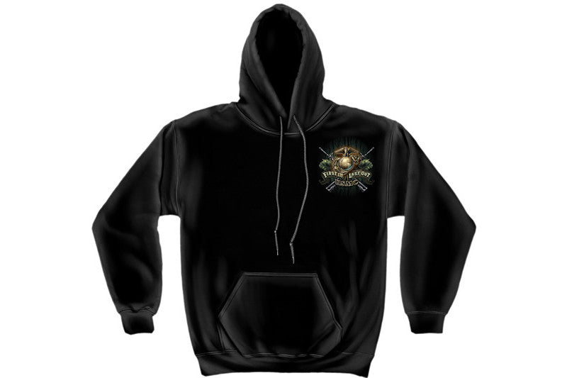 DEVIL DOG FIRST IN MARINE Hooded Sweatshirt