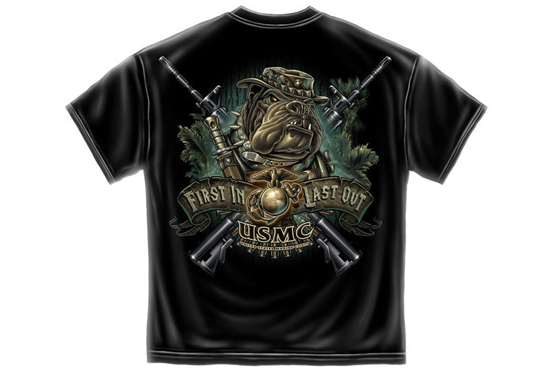 Devil Dog First In First Out Short Sleeve T Shirt