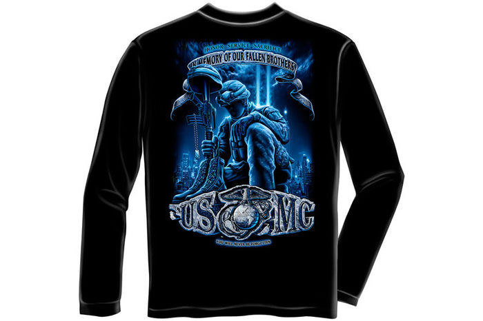 USMC NEVER FORGET Long Sleeve T-Shirt