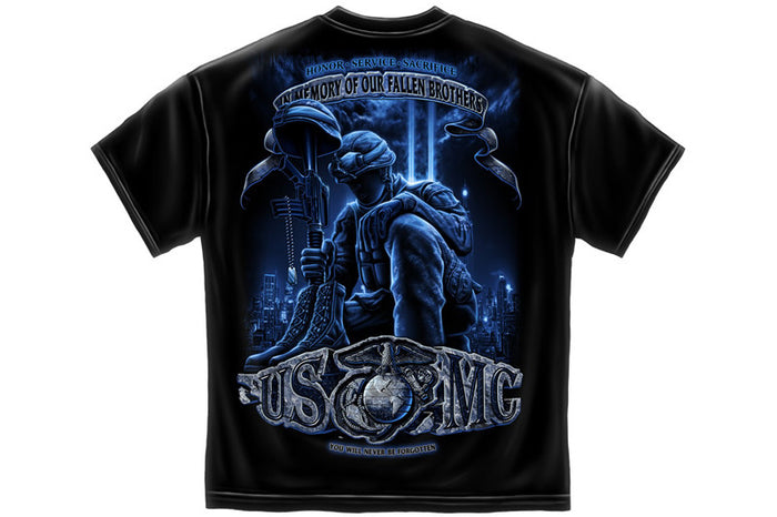 USMC NEVER FORGET Short Sleeve T Shirt