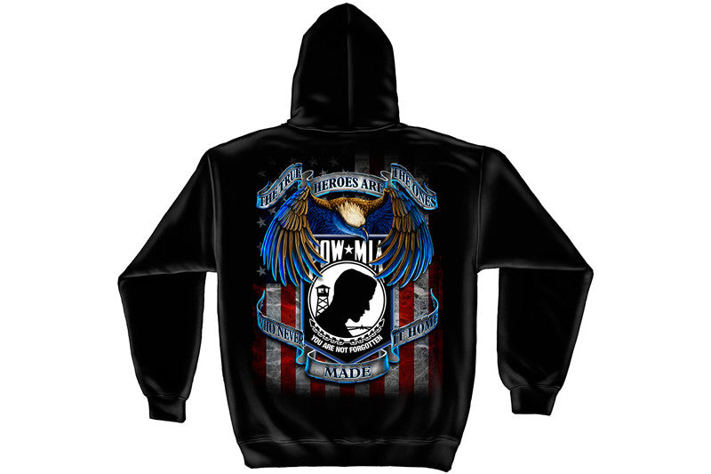 TRUE HEROS POW MIA Hooded Sweatshirt