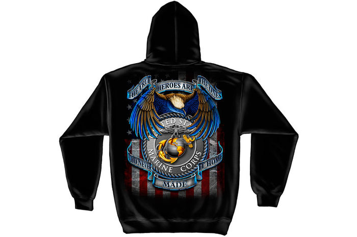 True hero MARINES Hooded Sweatshirt