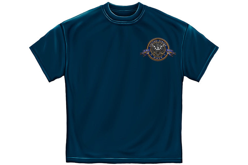 Navy The Sea is ours Short Sleeve T Shirt