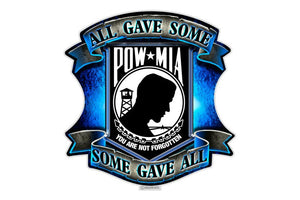 POW MIA All Gave Some, Some Gave All Reflective Decal