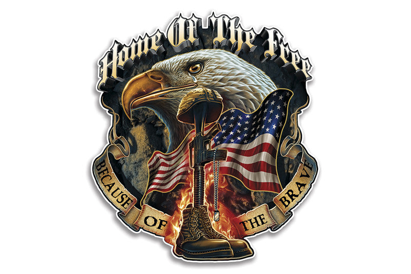 Home Of The Free Because Of The Brave Soldier Reflective Decal