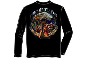 Home Of The Free Because Of The Brave Long Sleeve T-Shirt