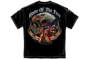 Home Of The Free Because Of The Brave Short Sleeve T Shirt