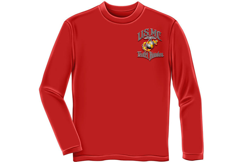 "USMC "" Teufel Hunden"" Long Sleeve T-Shirt"