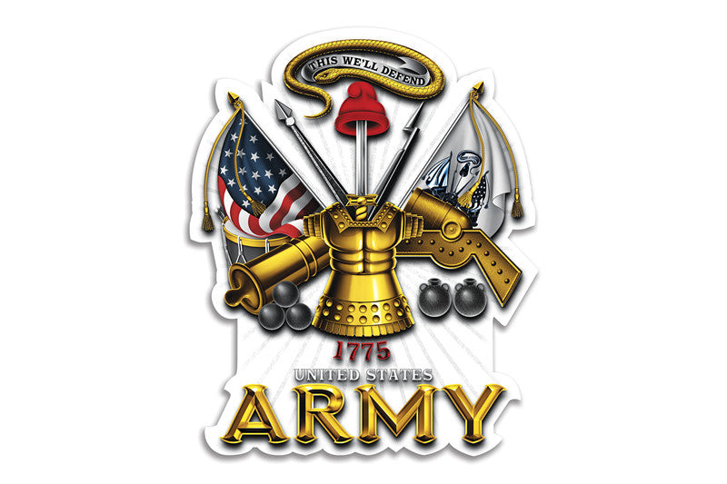 U.S. Army This We'll Defend Antique Armor Reflective Decal