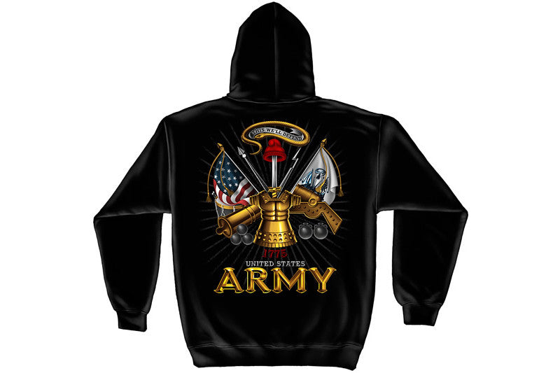 Army Antique armor Hooded Sweatshirt