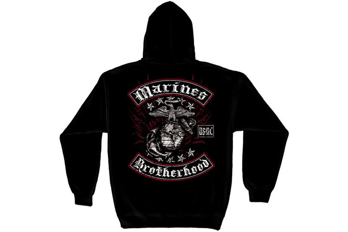 MARINE BIKER WITH ROCKERS FOIL STAMP Hooded Sweatshirt
