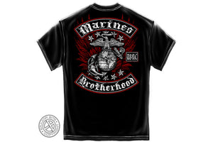 Marine Biker with Rockers Foil Stamp Short Sleeve T Shirt