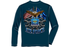 DOUBLE FLAGE AIR FORCE EAGLE Long Sleeve T-Shirt
