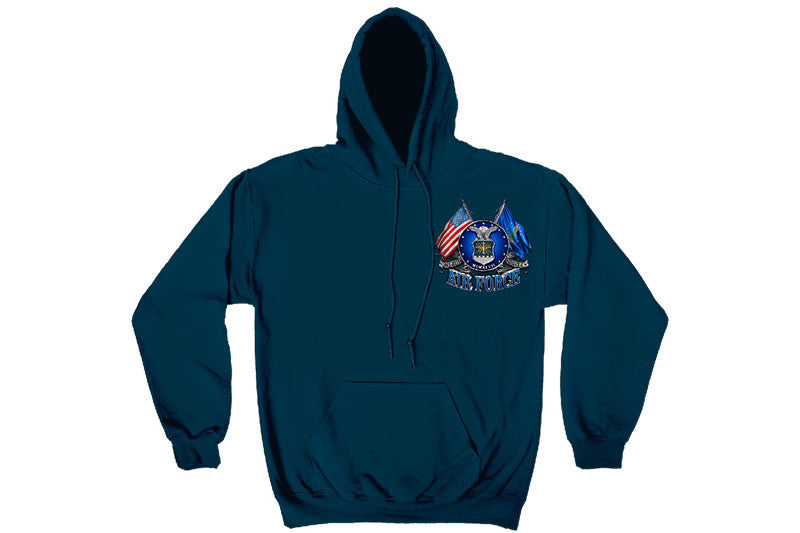 DOUBLE FLAGE AIR FORCE EAGLE Hooded Sweatshirt