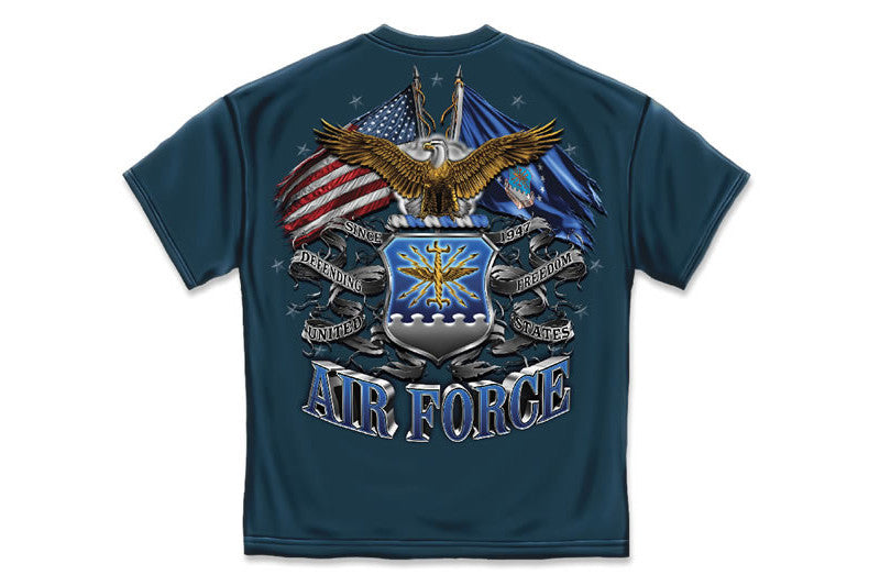 DOUBLE FLAGE AIR FORCE EAGLE Short Sleeve T Shirt