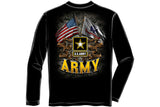 ARMY DOUBLE FLAG US ARMY BLACK Long Sleeve T-Shirt