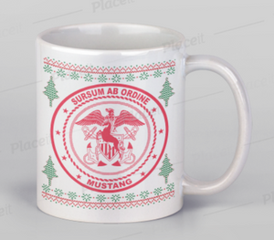 15oz Navy Mustang Christmas Sweater Coffee Mug
