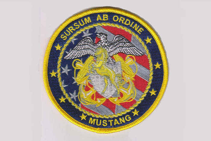 U.S. Navy Limited Duty Officer Chief Warrant Officer 4 inch round Mustang Patch
