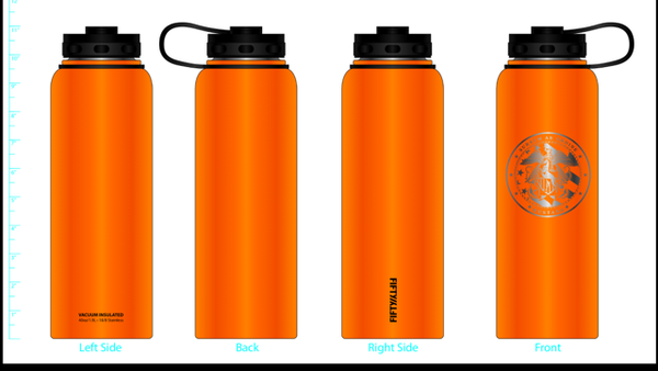 Fifty Fifty Stainless Steel Wide Mouth Water Bottle 40