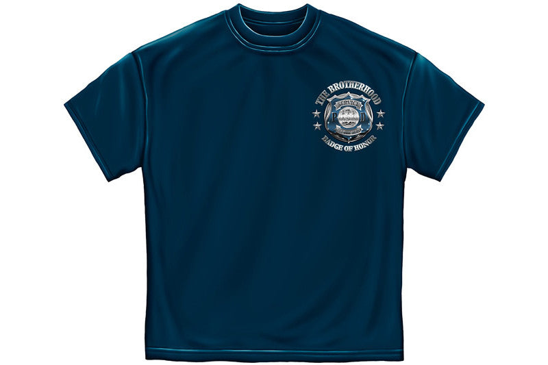 Police Honor Courage sacrifice badge Short Sleeve T Shirt