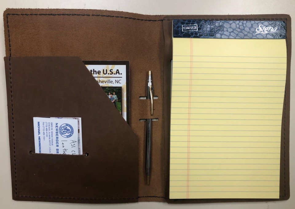 U.S Navy Mustang Junior Leather Portfolio