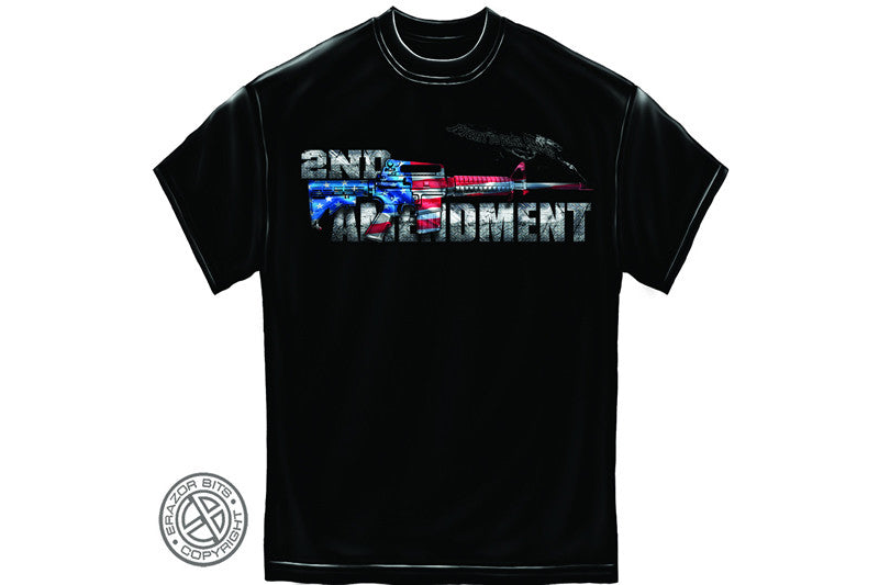 AR15 2nd Amendment Flag Short Sleeve T Shirt