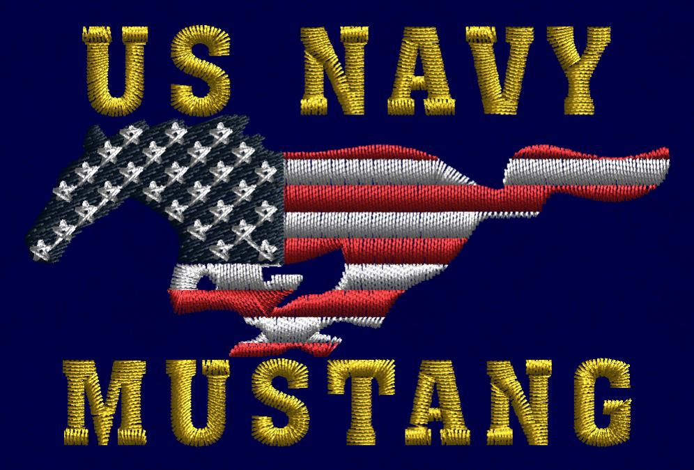 Khaki U.S. Navy Mustang Embroidered Ballcap