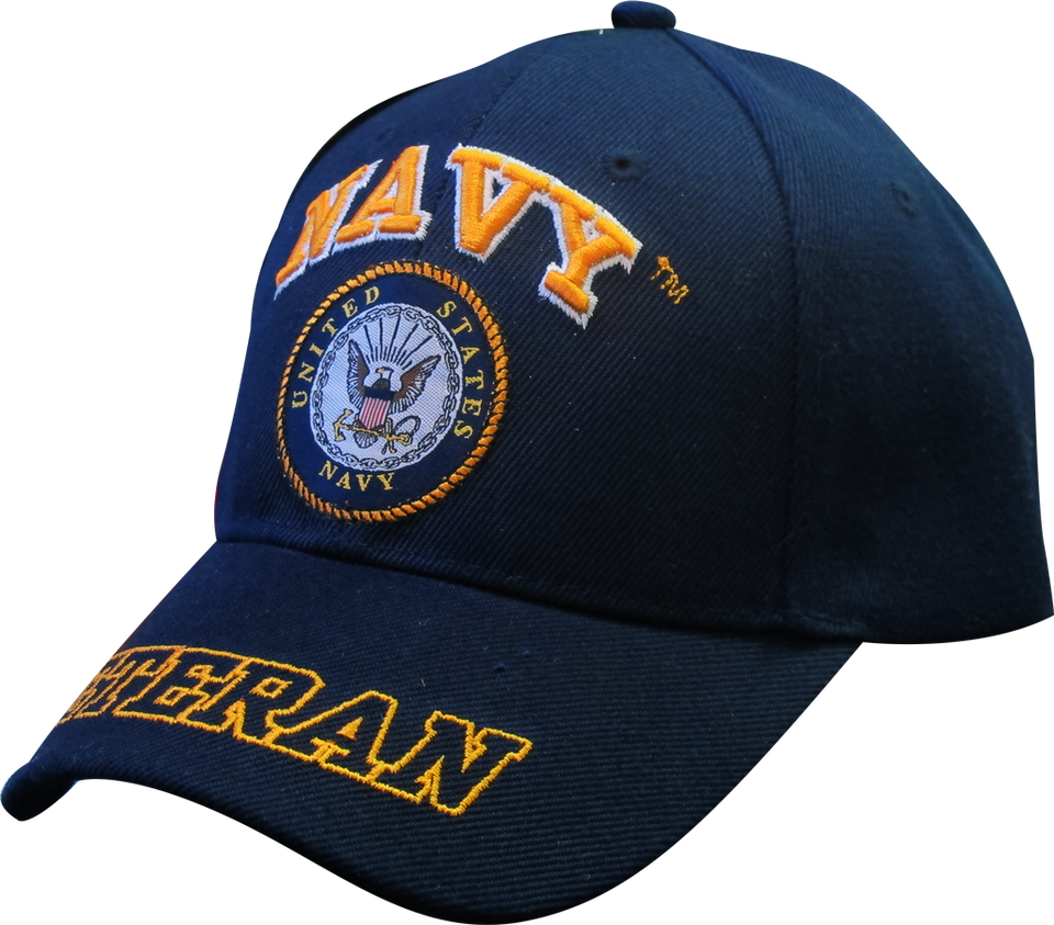 United States Navy Veteran Adjustable Hat w/ Emblem Embroidery