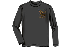 WICKED HUNT DEER BUCK STOP HERE Long Sleeve T-Shirt