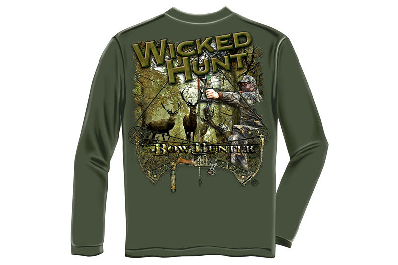 WICKED HUNT BOW HUNTING Long Sleeve T-Shirt