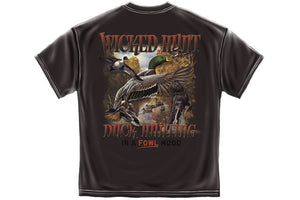 DUCK HUNTING IN A FOWL MOOD Short Sleeve T Shirt