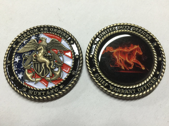2 Inch Navy Mustang Challenge Coin