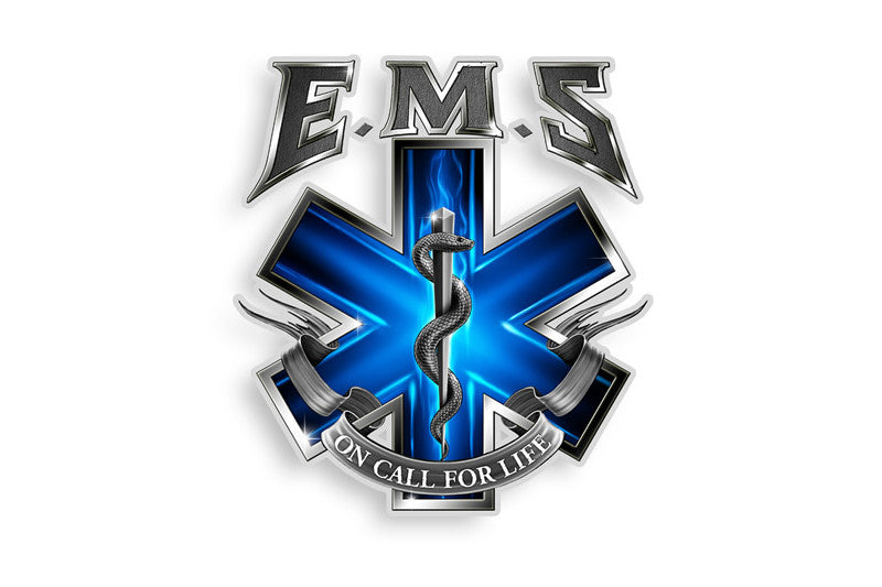 On Call For Life Emergency Medical Services EMS Reflective Decal