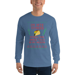 Fitness This Whole Taco In My Mouth Long Sleeve Christmas T-Shirt
