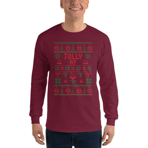 Jolly AF Long Sleeve Christmas T-Shirt
