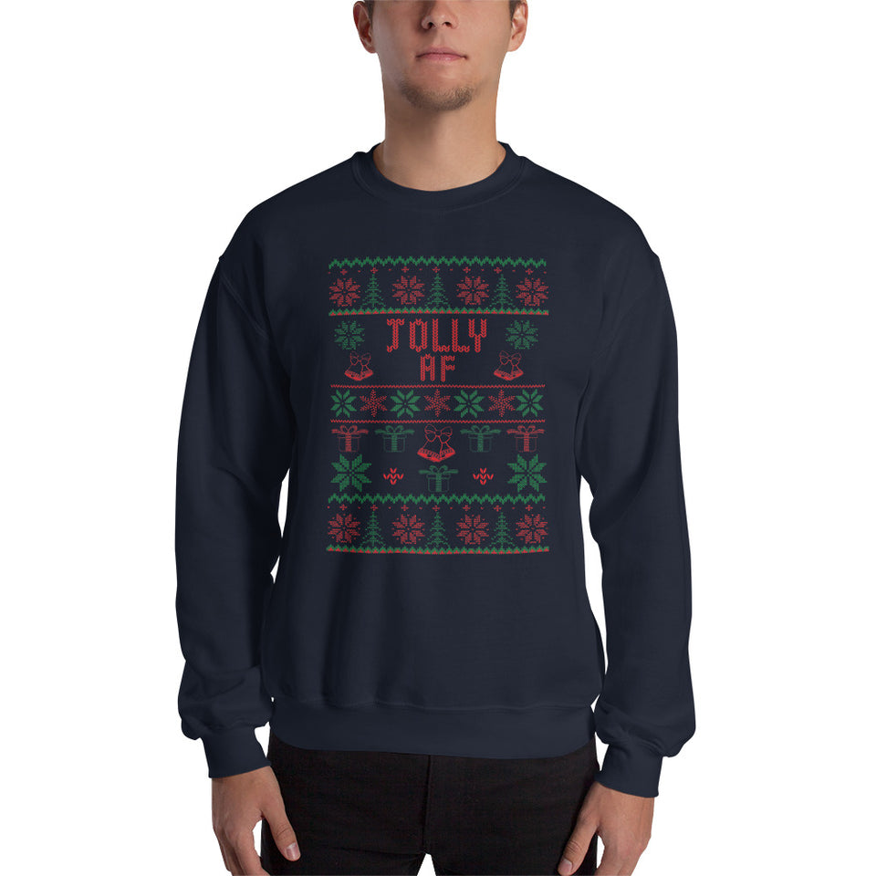 Jolly AF Unisex Christmas Sweatshirt