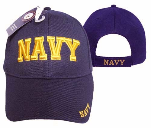 United States Navy Cap with Gold Lettering