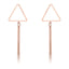Trendy Triangle Bar Drop Earring - Classy Swan