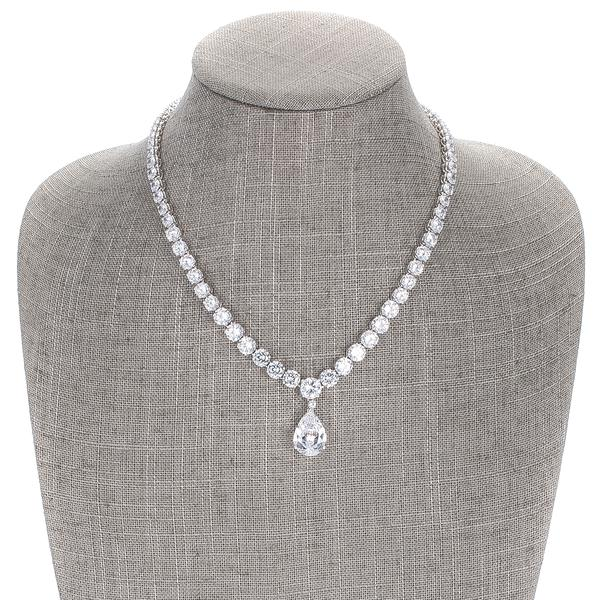Princess Pear Drop Necklace - Classy Swan