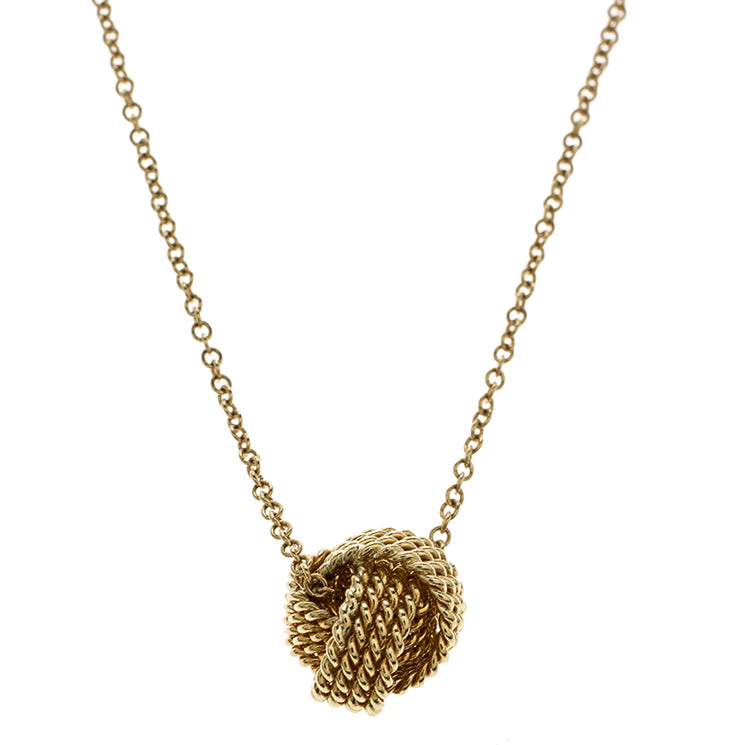 Mesh knotted Ball Drop Necklace - Classy Swan