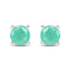 Emerald Sterling Silver Earrings - Classy Swan