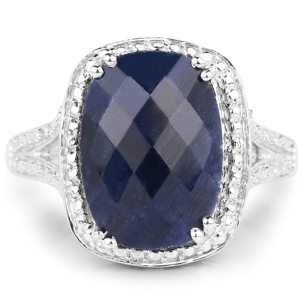 Dyed Sapphire Sterling Silver Ring - Classy Swan